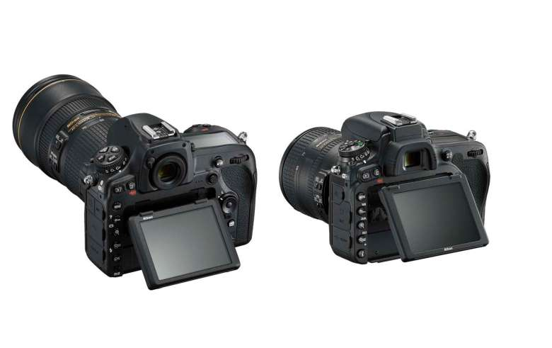 Both cameras feature 3.2-inch tilting LCDs, but only the D850's is touch-sensitive.