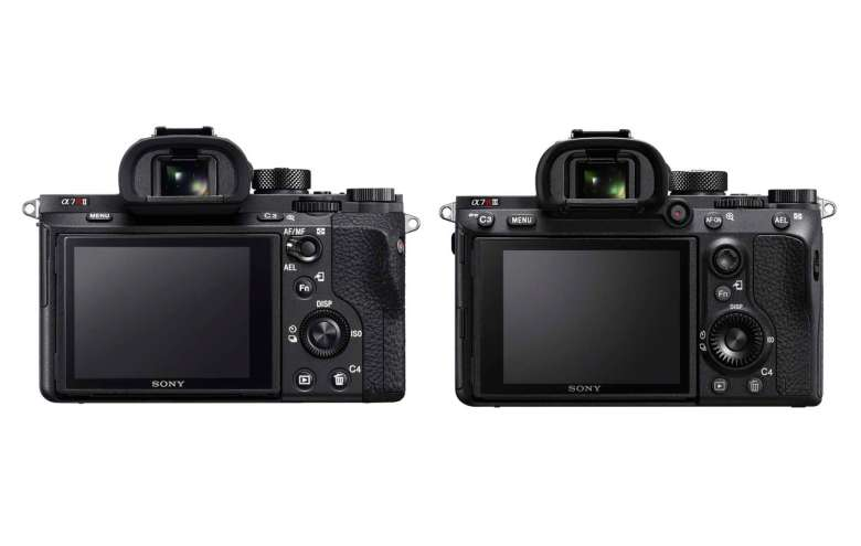 With a slightly re-jigged rear button layout, both the a7RII and the a7RIII feature a 3-inch tilting LCD.