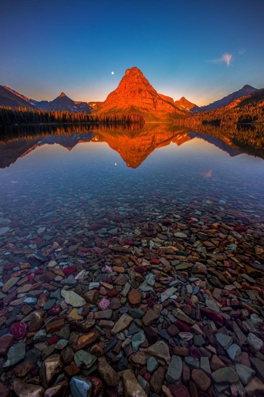 First Light - Two Medicine Lake