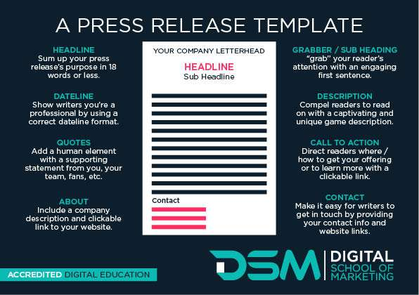 DSM Digital school of marketing - press release