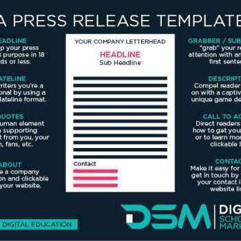 DSM Digital school of marketing - press release