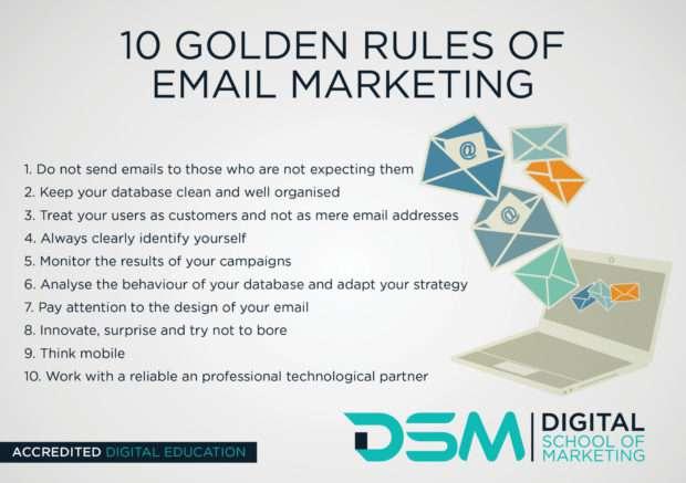 DSM Digital school of marketing - email newsletter