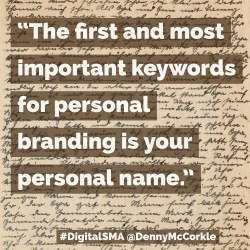 First Keywords #DigitalSMA
