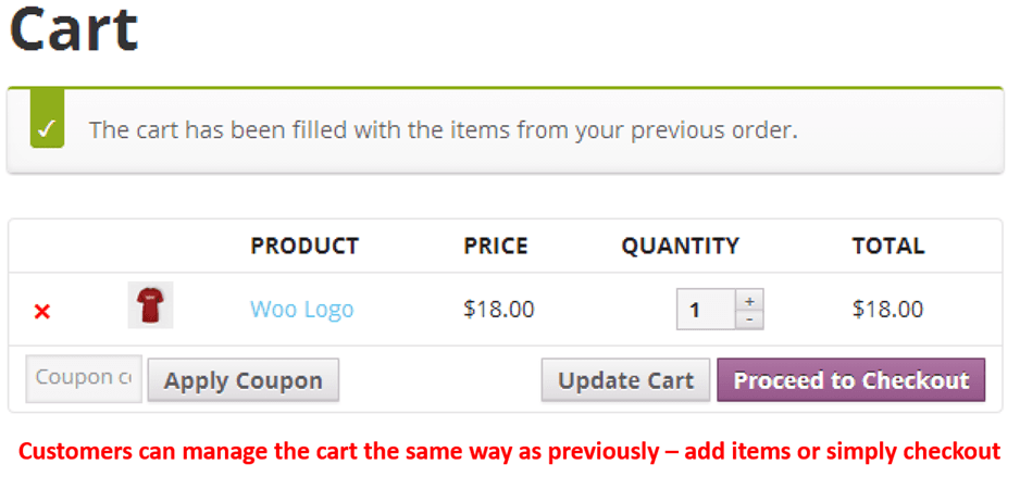 E-commerce Customer Reorder - Cart Management