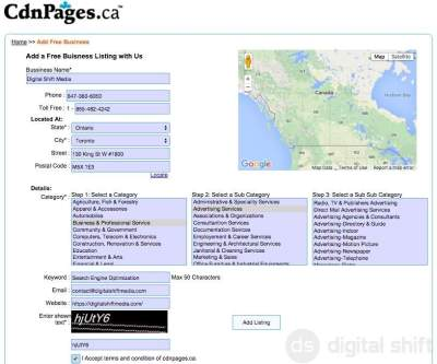 How to add your free listing to CdnPages.ca-2