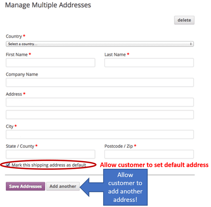 Manage Multiple Adresses