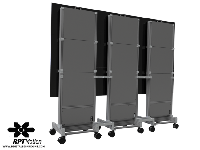 Portable Video Wall – RPT Motion Inc  Digital Sign Mounts