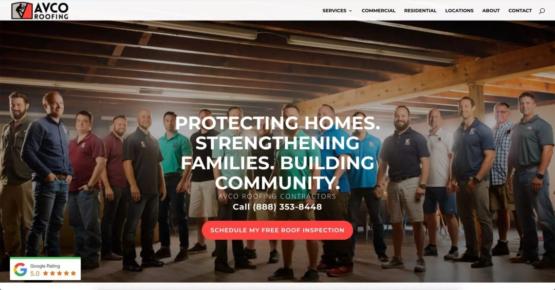 Web Design Project (AVCO Roofing)