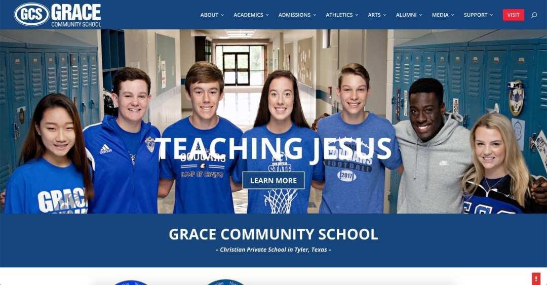 Web Design Project (Grace Community School)