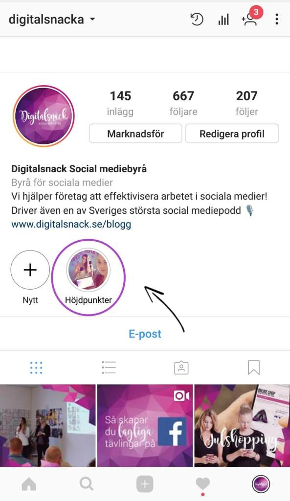 Stories highlight Instagram