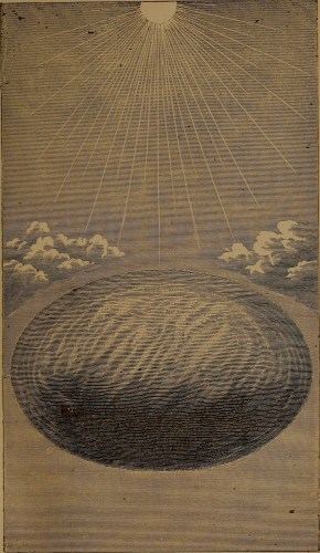 """Condensing from the outside, with comfessed poles"" illustration from ""God in nature and revelation"" (1875)"