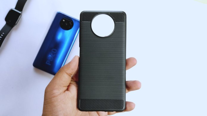Carbon fiber case for poco x3