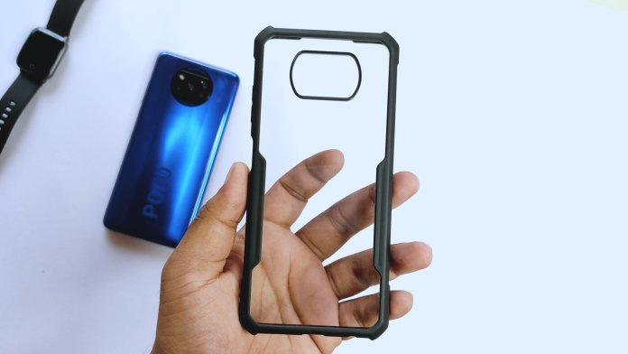 Crystal clear case for poco x3