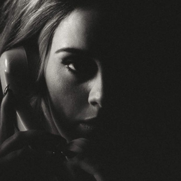 Adele 'Hello' single artwork.