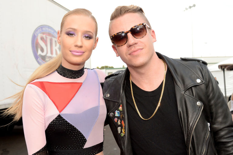 Iggy Azalea and Macklemore attend the 2014 iHeartRadio Music Festival