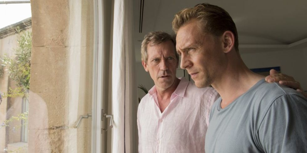 Hugh Laurie and Tom Hiddleston in BBC One's The Night Manager