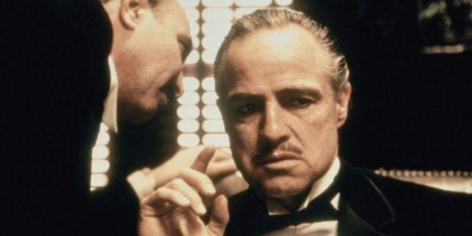 Marlon Brando And Salvatore Corsitto In The Father 1972