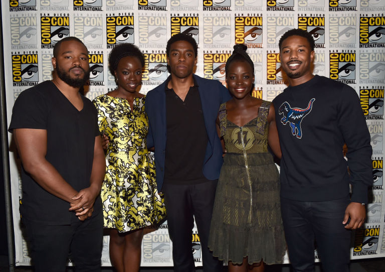 Image result for DANAI GURIRA'S 40TH BDAY PARTIES WITH 'BLACK PANTHER' CAST ... Before Opening Weekend