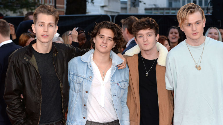 LONDON, ENGLAND - SEPTEMBER 26: The Vamps attend the European Premiere of 'Deepwater Horizon' at Cineworld Leicester Square on September 26, 2016 in London, England.