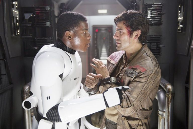 Finn and Poe Star Wars the Force Awakens