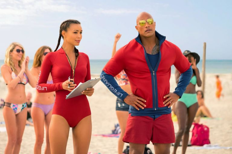 Image result for dwayne johnson baywatch