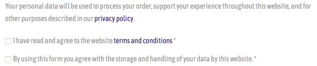 Clearly Better Days WooCommerce Data Privacy Acceptance at Checkout