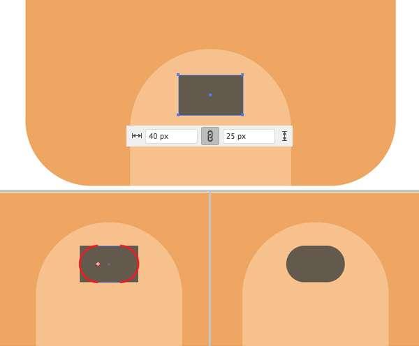 Membuat Icon Flat Design Character Beruang tahap 07
