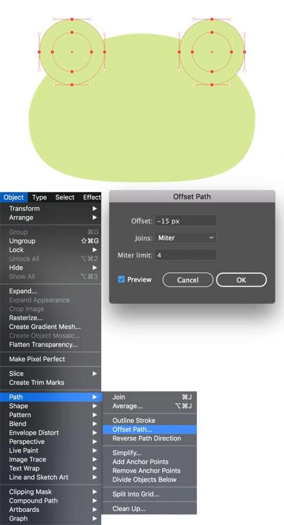 menggambar-character-flat-design-kodok-di-adobe-illustrator 4
