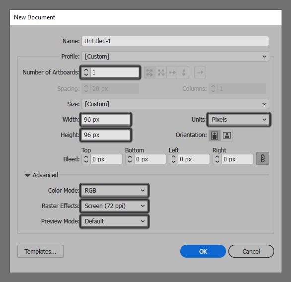 Tutorial Ikon Flat Design Kunci Kuno di Adobe Illustrator 01