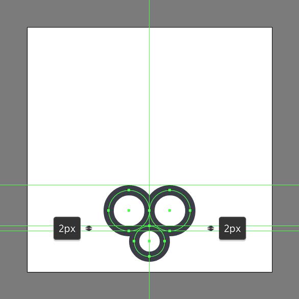 Tutorial Ikon Flat Design Kunci Kuno di Adobe Illustrator 03