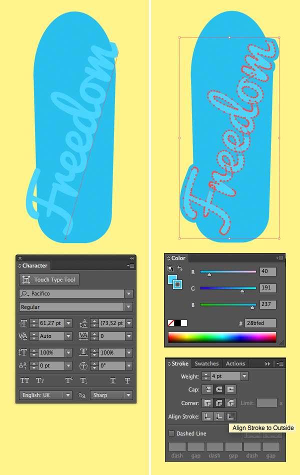 Tutorial Membuat Flat Design Skateboards Menggunakan Adobe Illustrator 08