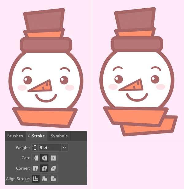 Tutorial Membuat Ikon Karakter Snowman di Adobe Illustrator 11