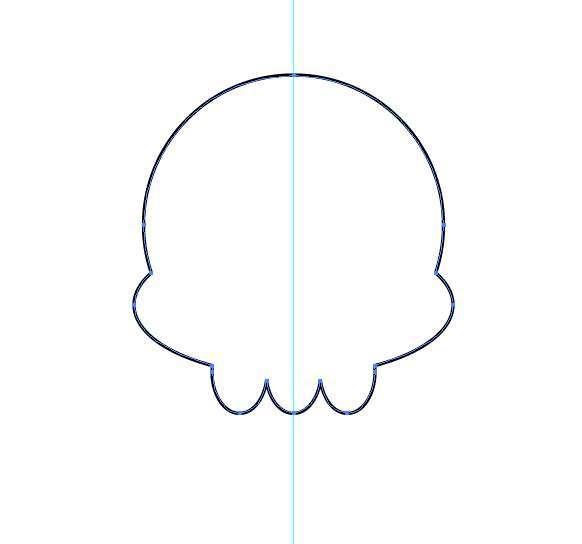 Tutorial Vektor Flat Design Tengkorak di Adobe Illustrator 05