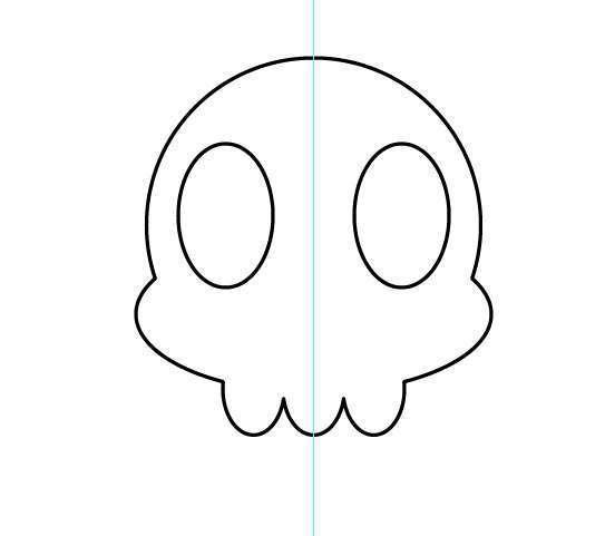 Tutorial Vektor Flat Design Tengkorak di Adobe Illustrator 08