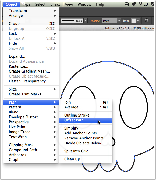 Tutorial Vektor Flat Design Tengkorak di Adobe Illustrator 13