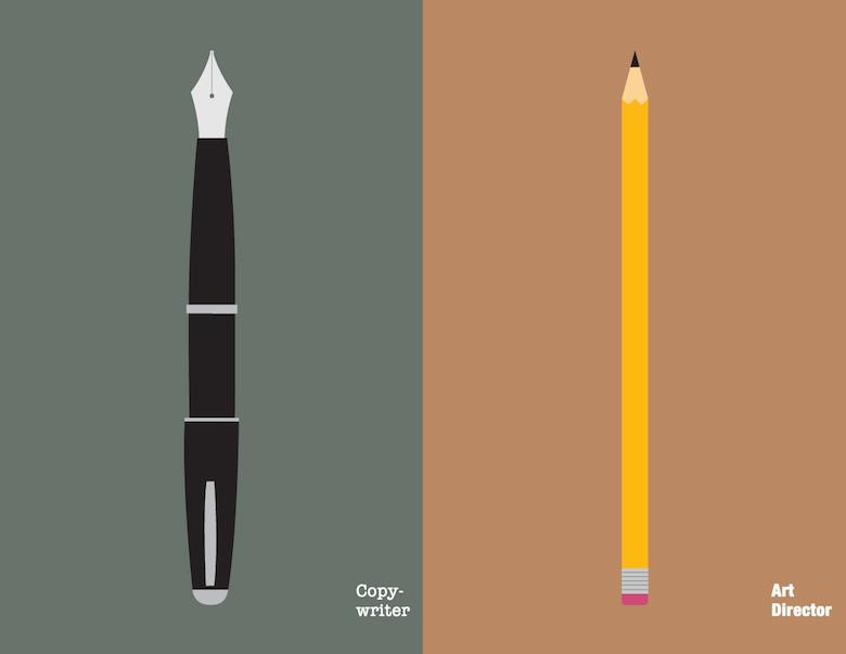 Copywriter Vs Art Director: Illustration - 1