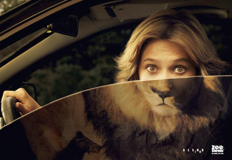 Poster du lịch đẹp từ zoo safari