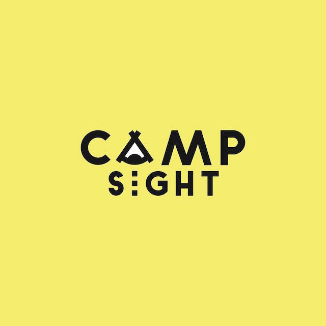 Clever Typographic Logos - Camp sight