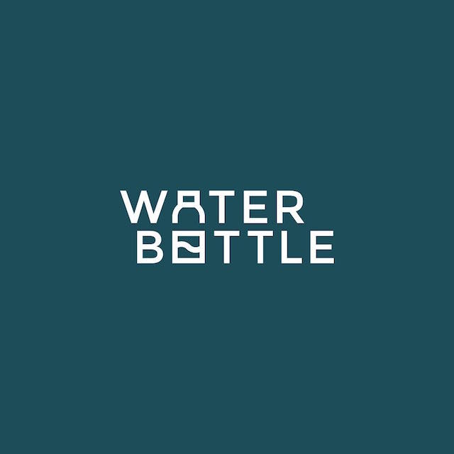 Clever Typographic Logos - Water bottle