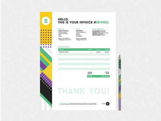 35 Creative Invoices Designed To Leave A Good Impression On Clients Creative invoice bill designs to impress clients   2