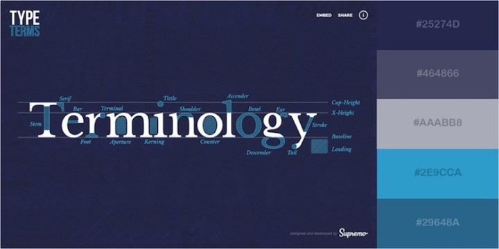 Website color schemes, palettes, combinations - Blue and Refreshing