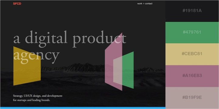 Website color schemes, palettes, combinations - Modern and Minimalist