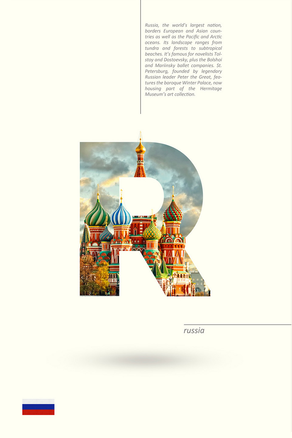 Beautiful Typographic Alphabet Series Of Countries And