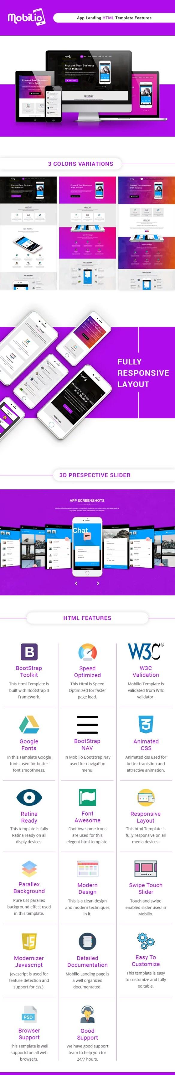 Mobilio App Landing HTML5 Template