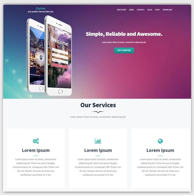 Clarina-theme-gratuit-WordPress-responsive
