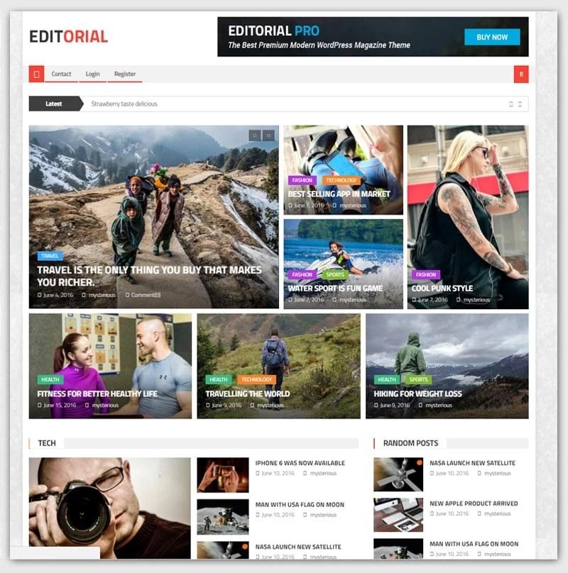 editorial-theme-gratuit-WordPress-responsive