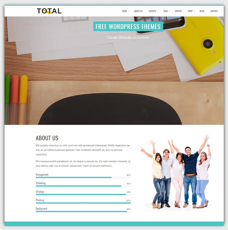 total-theme-gratuit-WordPress-responsive