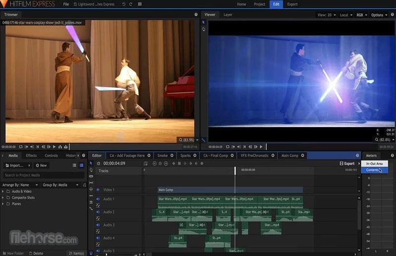 hitfilm-express montage video