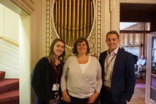 The Digital Humanities team, including the DH curator at the American Antiquarian Society (Molly Hardy).