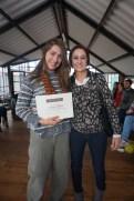 Graduation, standing beside my host mom in AMAUTA language learning school in Cuenca, Ecuador.